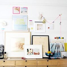 Jen Gotch framed prints. Love. Via Frolic Blog