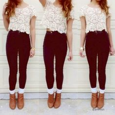 Jeggings! love the booties and socks
