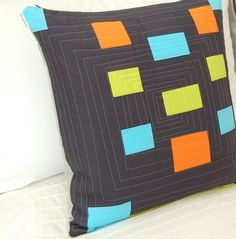 this blogger like my modern quilted pillows