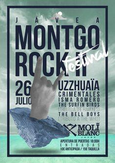 Entradas para Uzzhuaïa + Crimentales + Isma Romero + The Bellboys en Jávea el 26 de julio 2014 en notikumi Montgorock 2014