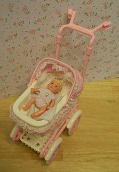 $32 on eBay: Barbie Baby Krissy w Layette Stroller w Sound Nursery House Accessories Mint | eBay