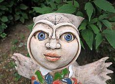 Nádoby - malá sovia víla - 8348091_ Garden Sculpture, Sculptures, Outdoor Decor, Artwork, Work Of Art, Auguste Rodin Artwork, Artworks, Illustrators, Sculpture