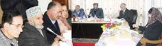 Chief Minister Mehbooba Mufti chairing a meeting of Board of Directors of J&K Wakf Board in Srinagar.