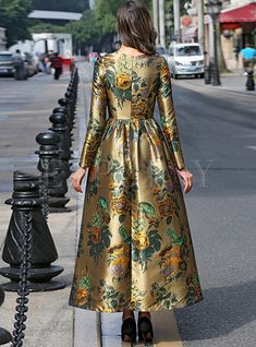 Shop Jacquard High-Waist Pleated Gown Ball Maxi Dress at EZPOPSY. Pakistani Maxi Dresses, Hijab Evening Dress, Pakistani Fashion Party Wear, Long Gown Dress, Maxi Dress With Sleeves, Stylish Dresses, Fashion Dresses, Morrocan Dress, Afghan Dresses