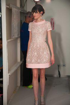 OSCAR DE LA RENTA RESORT 2013. Pale pink and shimmering silver sequins...