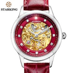 68.42$  Buy now - http://aliix5.shopchina.info/go.php?t=32809389234 - STARKING 2017 Luxury Top Brand Fashion Clock Genuine Leather Strap Wristwatches Waterproof  Skeleton Automatic Mechanical Watch  68.42$ #magazineonlinewebsite