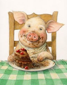 Diamond Painting Pig DIY Diamond Painting Cross Stitch Cute Pig Eat Cake Diamond Round Rhinestone Home Decor Painting