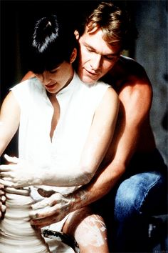 Ghost | Demi Moore & Patrick Swayze (1990) I loved this scene and I think it was why I wanted to be an artist as a child. So sexy!