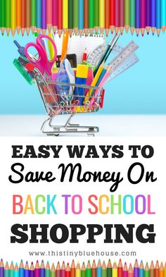 Easy ways to save money on back to school shopping. Don't bust your budget! Instead, apply some of these frugal back to school shopping hacks! #backtoschool #backtoschoolshopping #backtoschoolhacks #backtoschooltips #moneysavingtipsforbacktoschool #moneysavinghacksforbacktoschool #savemoneybacktoschool