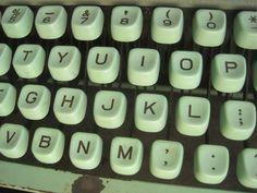 seafoam typewriter