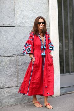 colorful boho dress