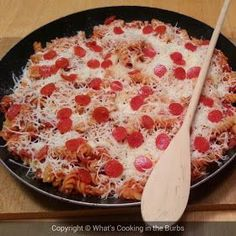 Skillet Pizza Pasta � 6 Weight Watchers pp   See more about polka dots, mints and navy.