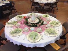Proud of my table set for tea time at Church.  Great-grandmother's china at its best!