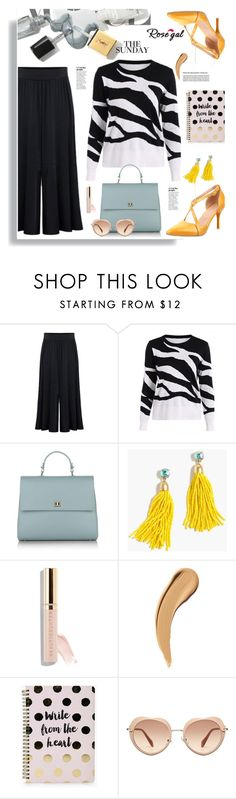 """""""Rosegal.com The sunday"""" by hamaly ❤ liked on Polyvore featuring BOSS Hugo Boss, J.Crew, Beautycounter, Boohoo, Miu Miu, Sweater, shoes, ootd, pants and rosegal"""