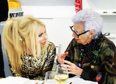 """The fabulous IRIS! She was sharing with me her thoughts on social media in particular """"Selfies"""". Note To Self: Do Not ask Iris Apfel for a selfie! Erdem, Note To Self, Selfies, Love Her, Toronto, Swarovski, Social Media, Thoughts, Women"""