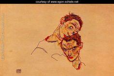 Double Self Portrait - Egon Schiele - www.egon-schiele.net