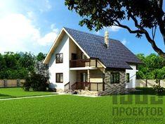 Проект дома из блоков 1658 House Rooms, Desktop, Shed, Villa, Farmhouse, Cottage, Exterior, Outdoor Structures, House Design