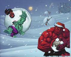 Santa Hulks by ~SotoColor on deviantART