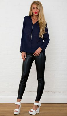 Pure Love Top in Navy http://www.popcherry.com.au/boutique/