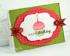 """""""Happy Birthday Cupcake"""" card by Nichole Heady for Papertrey Ink"""