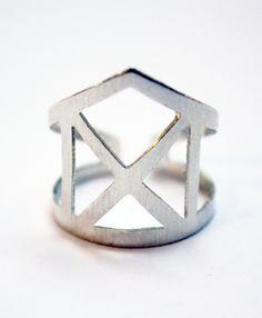 Geo Ring | VRDjewelry on Etsy