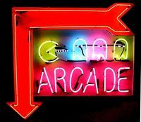 """Large Open-Tube PACMAN """"Arcade Arrow Shaped Neon Sign Led Signs, Pinball, Arcade Games, Game Room, Neon, Lights, Retro, Man Cave, Arrow"""