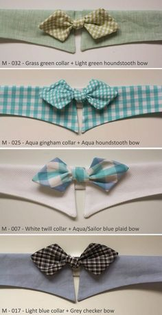Pet's Fancy Shirt Collar with Bowtie for Midsize by ATLcollars, $26.00