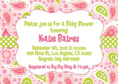Paisley Invitation  4 Colors to choose from by dpdesigns2012, $10.00