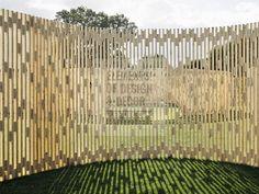 забор в виде геометрических фигур