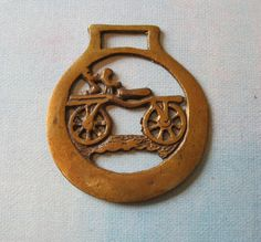 Vintage Horse Saddle Brass of Bicycle