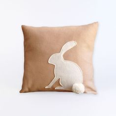 Bunny Applique Pillow