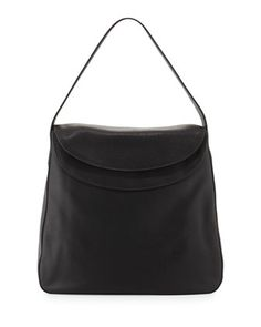 Cervo Doubled Flap-Top Leather Hobo Bag by Prada at Neiman Marcus.