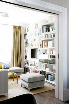 Inside a Collected Eclectic Home in London via @mydomaine - Shelving unit