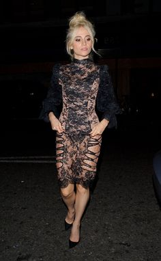 PIXIE LOTT Arrives at Edition Hotel in London  actress Pixie Lott