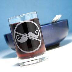 Anti-Mustache Juice Glass