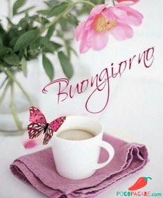 Immagini Belle Di Buongiorno - Pocopagare.com Italian Memes, Italian Quotes, Good Morning Coffee, Good Morning Quotes, Coffee Break, Coffee Time, Happy Love, Happy Day, Happy Weekend