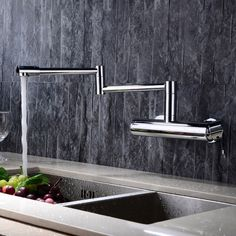 Wall Mounted Swing Arm Kitchen Sink Faucet, sold at only US$115.99. Go and check it out!