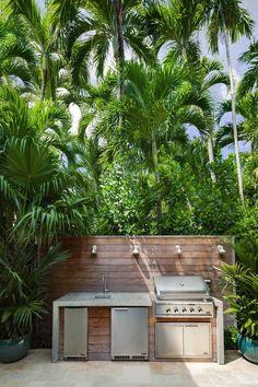 Outdoor Kitchen Patio, Outdoor Kitchen Design, Patio Design, Outdoor Living, Outdoor Kitchens, Backyard Barbeque, Backyard Pergola, Backyard Landscaping, Outdoor Barbeque