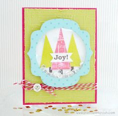 Whimsical Christmas Trees card #clearlybesotted #sequins