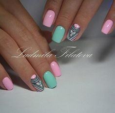 Nail and Nails trends Gel Nail trends These days, a flowery manicure may be a should for several women. Of course, the wonders that trendy gel manicure suggests area Trendy Nails, Cute Nails, My Nails, Spring Nails, Summer Nails, Nail Manicure, Gel Nail, Shellac Nail Art, Acrylic Nails