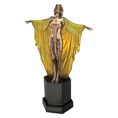 Design Toscano Majestic Maiden Art Deco Illuminated Sculpture - PD60713