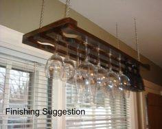 3 Row 32 Inch Hanging Wine Glass Rack: Amazon.com: Kitchen & Dining