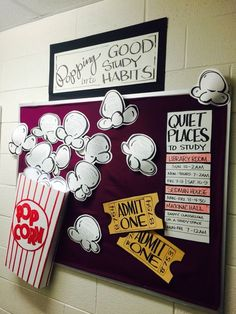 Res Life Door Decs Resident Assistant 62+ Ideas October Bulletin Boards, College Bulletin Boards, Summer Bulletin Boards, Bulletin Board Design, Interactive Bulletin Boards, Halloween Bulletin Boards, Popcorn Bulletin Boards, Arts And Crafts For Teens, Art And Craft Videos