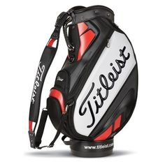 """Titleist 10.5"""" Tour Vinyl Staff Bag - Popular choice for the serious player and used widely on the Pro Tours across the world - https://www.foremostgolf.com/titleist-10-5-tour-vinyl-staff-bag"""
