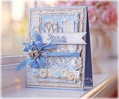 """Andrea Ewen Style for Maja Design using Life in the Country papers, Memory Box die and Verve stamps to make """"You're So Sweet"""", March 2013"""