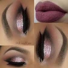 Image result for flawless makeup eyes and lips dark purple