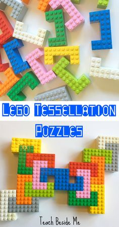 Lego Tesselation Puzzles- Plus 100 other Lego Learning Ideas