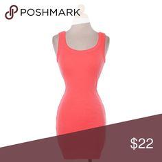 "Coral Tank Dress #418-CS Coral tank mini dress. Polyester/Spandex Blend.  Hand Wash. Measurements: Bust 32-34, Waist 24-26, Hip 34-36, Length armpit down 24"". Signature 8 Dresses Mini"