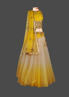 Checkout on Roposo.com - stiched designer dress with hand embroidered colour as per picture fabric bettefly net and sarttan silk size customization available price 7500. contact number 9716617285 or WhatsApp no