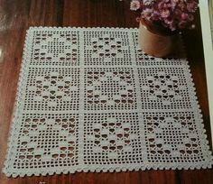 Best 9 Tejido – Page 364650901079197260 Crochet Table Runner Pattern, Free Crochet Doily Patterns, Christmas Crochet Patterns, Crochet Tablecloth, Crochet Mandala, Crochet Squares, Crochet Designs, Crochet Doilies, Crochet Flowers